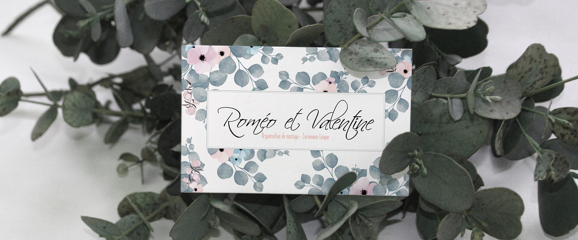 CARTE DE VISTE ROMEO ET VALENTINE RECTO